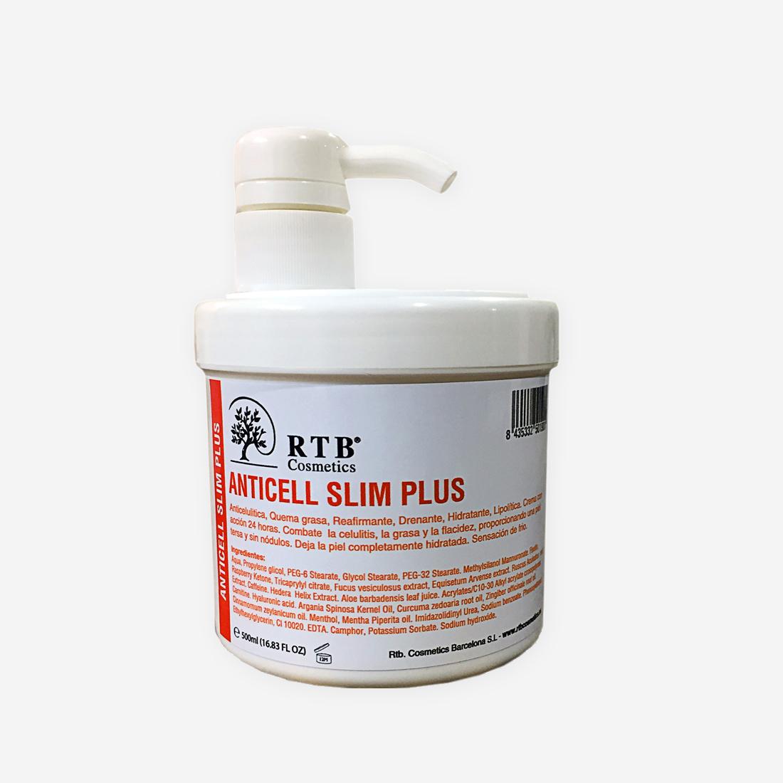 Crema Anticelulítica Slim Plus - RTB Cosmetics