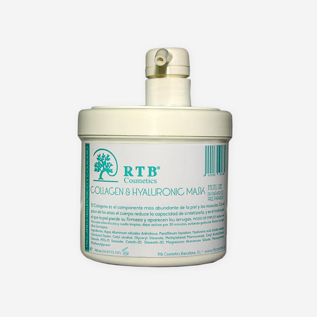 Mascarilla Hialurónico y Colágeno - RTB Cosmetics