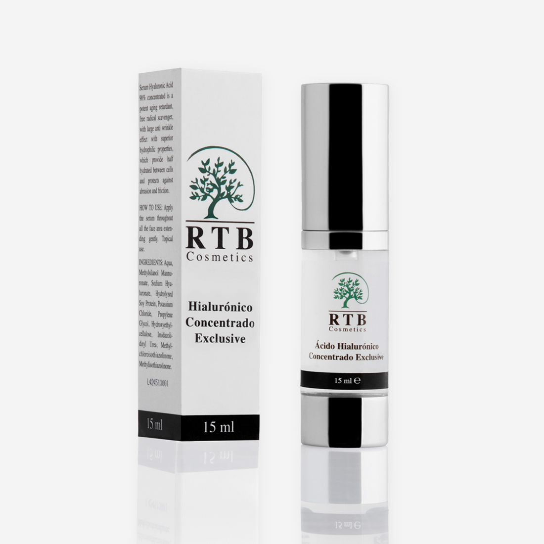 Ácido Hialurónico Exclusive 30 ML - RTB Cosmetics