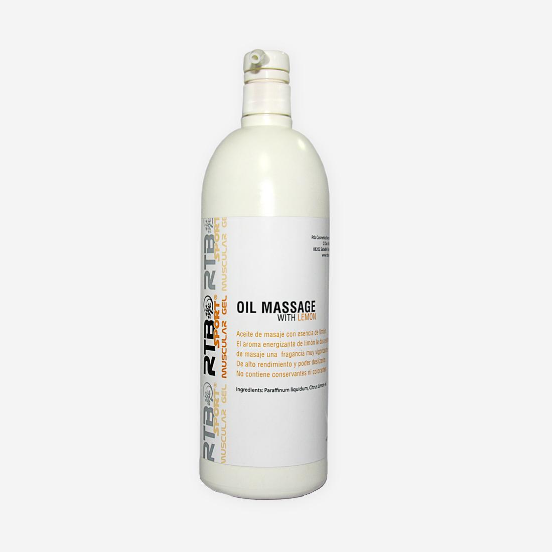 Massage Oil with lemon - RTB Cosmetics